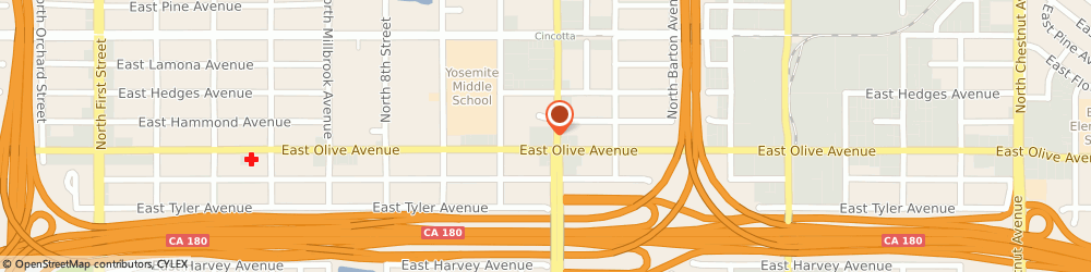Route/map/directions to Atm Great Western Bank, 93703 Fresno, 1219 N Cedar Ave