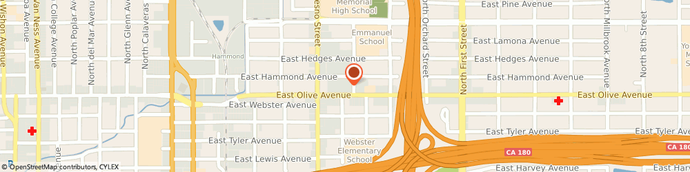 Route/map/directions to United States Postal Service, 93701 Fresno, 2601 E Olive Ave