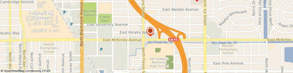 Route/map/directions to 7-Eleven, 93703 Fresno, 2515 E McKinley Ave
