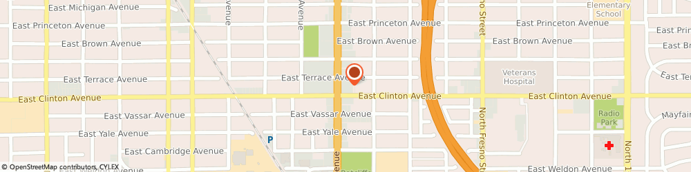 Route/map/directions to Atm Great Western Bank, 93703 Fresno, 2420 N Blackstone Ave