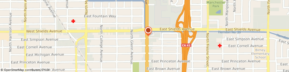 Route/map/directions to McDonald's, 93703 Fresno, 3115 N Blackstone Ave