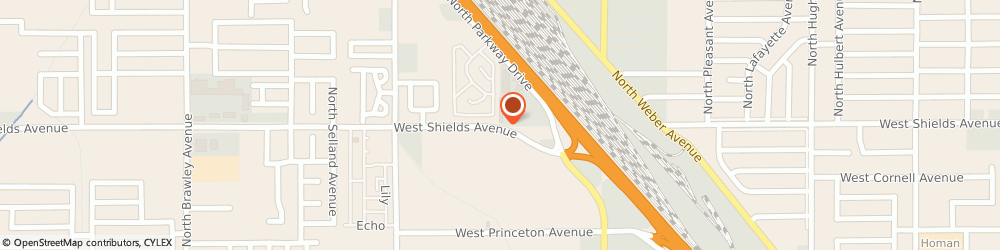 Route/map/directions to Krue Kuts, 93705 Fresno, 1302 W Shields Ave