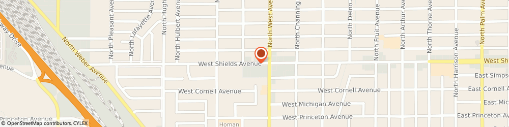 Route/map/directions to Jackson Hewitt Tax Service, 93705 Fresno, 1409 W SHIELDS AVENUE