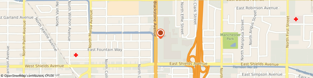 Route/map/directions to Atm Great Western Bank, 93726 Fresno, 3530 N Blackstone Ave #166