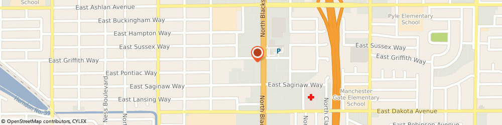 Route/map/directions to United States Postal Service, 93704 Fresno, 1606 E Griffith Way