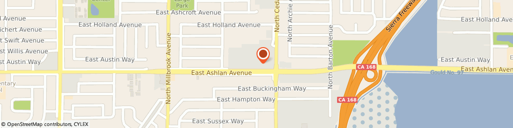 Route/map/directions to Atm Great Western Bank, 93726 Fresno, 4173 E Ashlan Ave