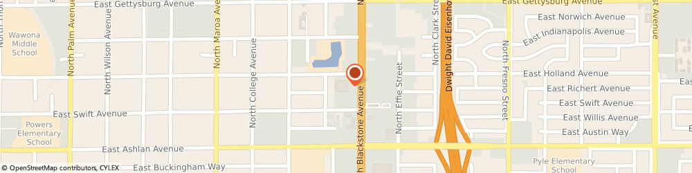 Route/map/directions to Atm Great Western Bank, 93726 Fresno, 4343 N Blackstone Ave