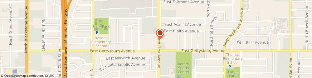 Route/map/directions to Bethel Christian Center, 93726 Fresno, 4665 N 1St St