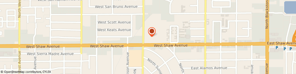 Route/map/directions to Aveda Partner, 93704-2201 Fresno, 5054 N Palm Ave