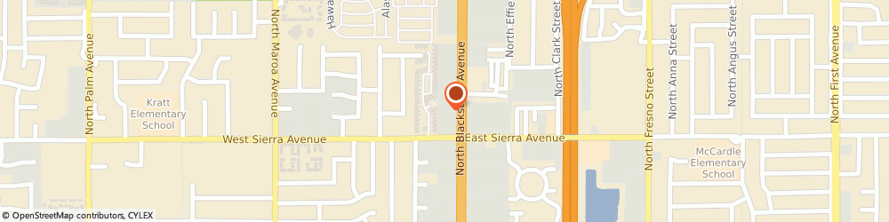 Route/map/directions to Jackson Hewitt Tax Service, 93710 Fresno, 6457 N. BLACKSTONE AVE