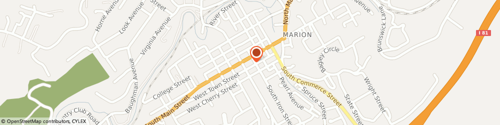 Route/map/directions to Progressive Insurance, 24354 Marion, 116 W Main St