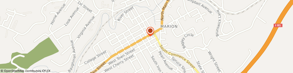Route/map/directions to Alan Baldwin Insurance, 24354 Marion, 201 E Main St, Ste 105