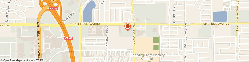 Route/map/directions to Atm Great Western Bank, 93720 Fresno, 7733 N 1St St