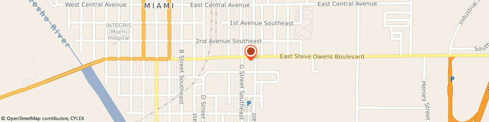 Route/map/directions to Subway, 74354 Miami, 700 E. Steve Owens Blvd.
