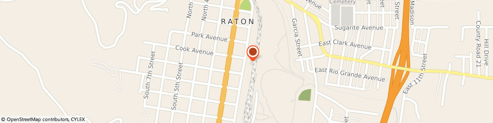 Route/map/directions to H & r Block, 87740 Raton, 210 SOUTH 1ST STREET