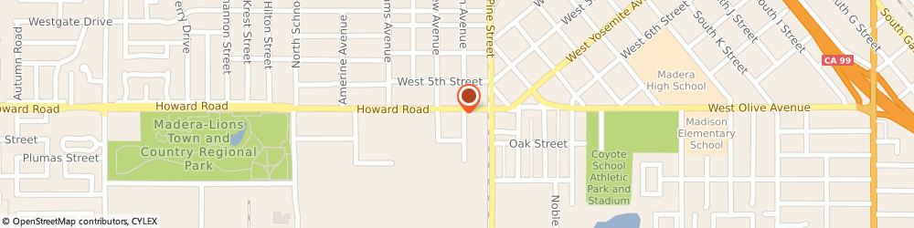 Route/map/directions to McDonald's, 93637 Madera, 1500 Howard Road