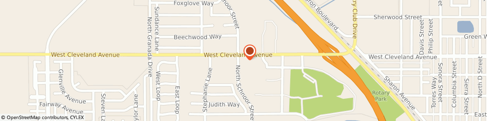 Route/map/directions to McDonald's, 93637 Madera, 2290 W Cleveland Avenue