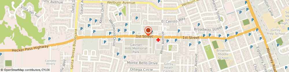 Route/map/directions to US BANK, 95020 Gilroy, 905 FIRST STREET