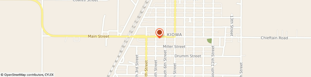 Route/map/directions to The American Legion, 67070 Kiowa, 119 S 5Th St