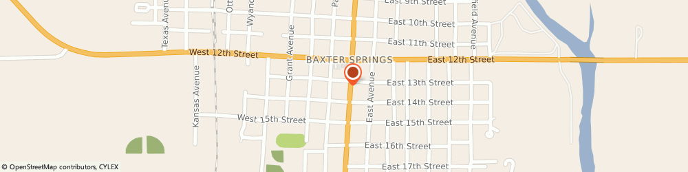 Route/map/directions to Subway, 66713 Baxter Springs, 1301 Military Ave