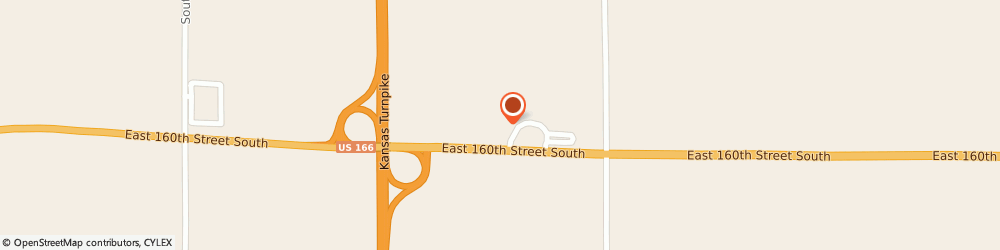 Route/map/directions to Motel 6 South Haven, 67140 South Haven, 880 East 160th St South