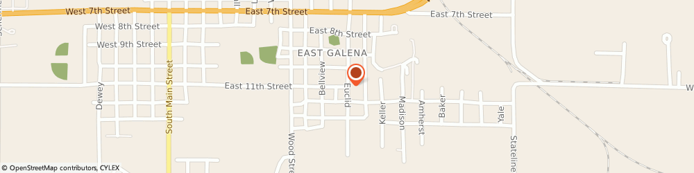 Route/map/directions to First Baptist Church - Parsonage, 66739 Galena, 704 Euclid St