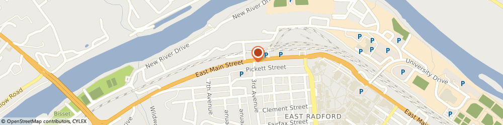 Route/map/directions to BB&T, 24141 Radford, 1201 E Main St