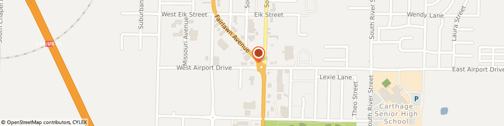 Route/map/directions to Citibank ATM, 64836 Carthage, 2435 Fairlawn