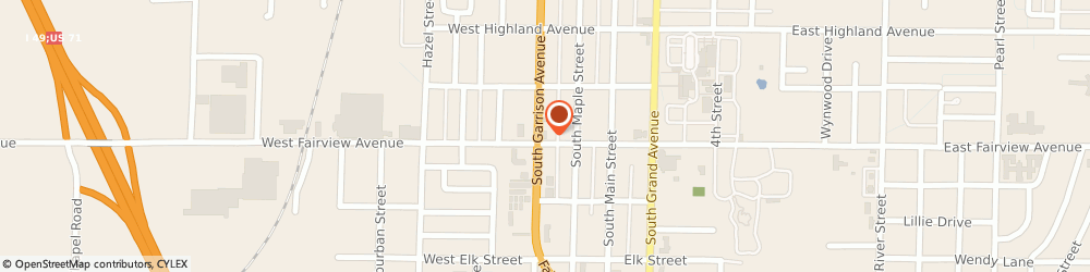 Route/map/directions to Citibank ATM, 64836 Carthage, 1946 S Garrison Ave