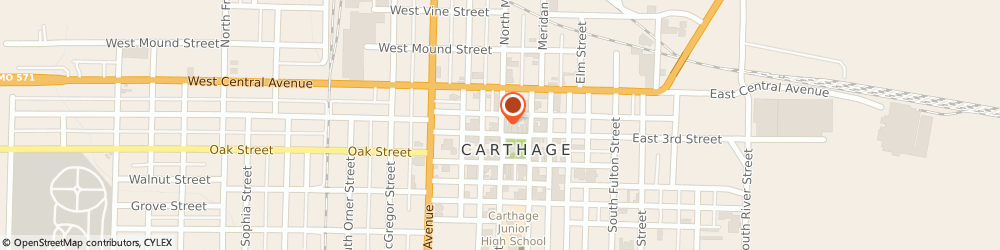 Route/map/directions to Bank Of America Mortgage, 64836 Carthage, 231 S MAIN ST