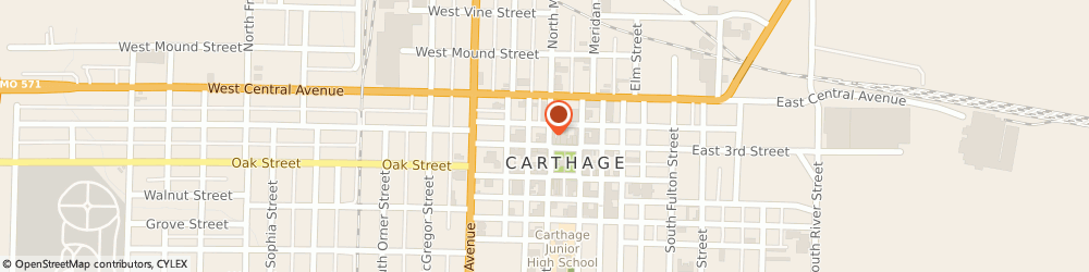 Route/map/directions to Bank of America, 64836 Carthage, 231 S MAIN ST