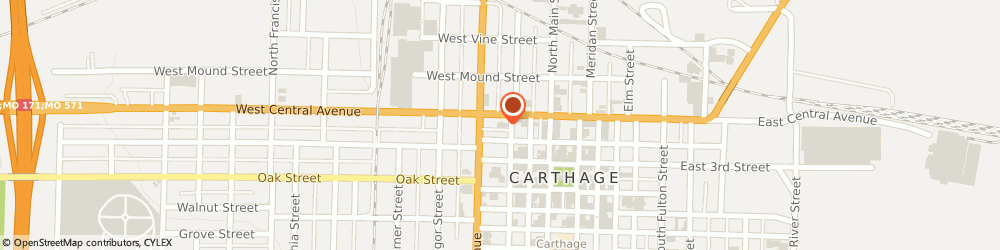Route/map/directions to Citibank ATM, 64836 Carthage, 312 West Central