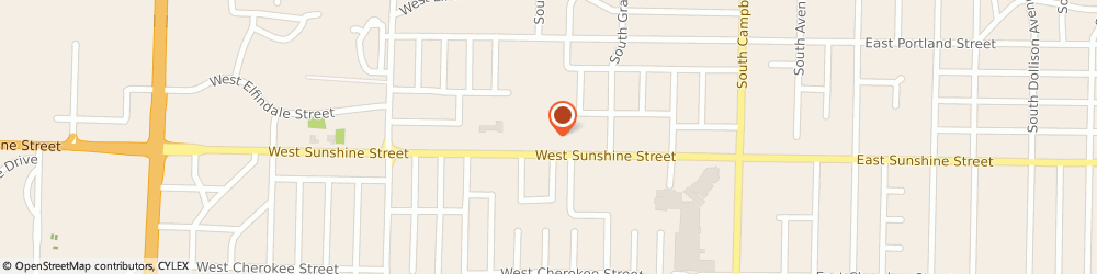 Route/map/directions to Dennisplace, 65807 Springfield, 921 WEST SUNSHINE STREET