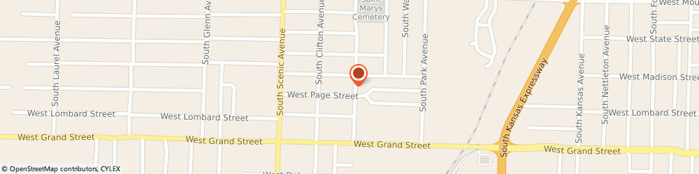 Route/map/directions to Ball Park Tavern, 65802 Springfield, 811 S WEST AVE