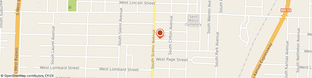 Route/map/directions to Tailgaters Pub & Eatery, 65802 Springfield, 724 SOUTH SCENIC AVENUE