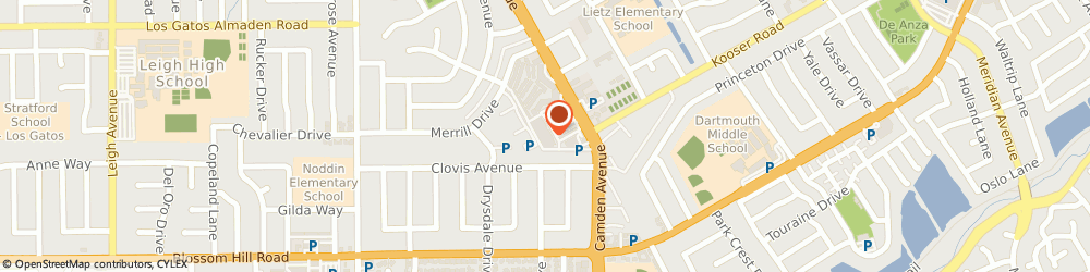 Route/map/directions to Cvs Pharmacy, 95124 San Jose, 5407 CAMDEN AVENUE