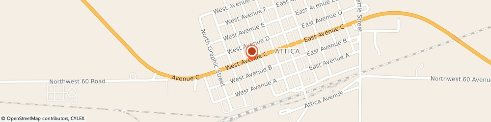 Route/map/directions to Faith Baptist Church, 67009 Attica, 302 W Ave C,