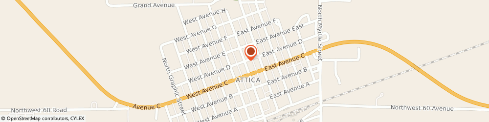 Route/map/directions to United Methodist Church - Parsonage, 67009 Attica, 602 N Main St