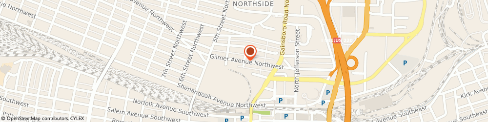 Route/map/directions to Touch of Elegance floral design, 24016 Roanoke, 202 Gilmer Ave NW