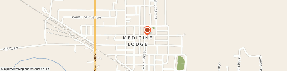Route/map/directions to The American Legion Barber County, 67104 Medicine Lodge, 109 W 1St St