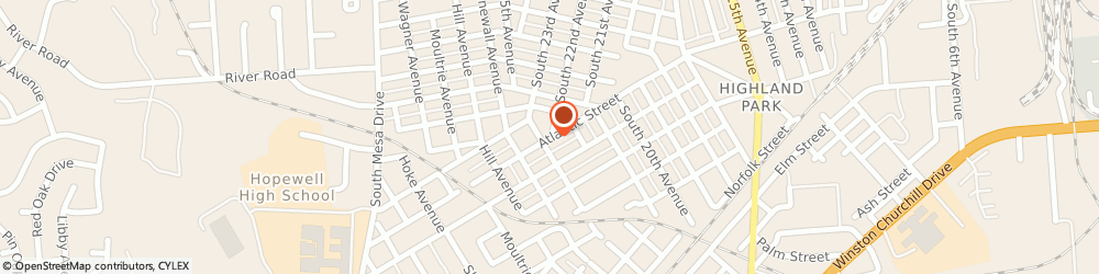 Route/map/directions to N & Y Corner Store, 23860 Hopewell, 2223 ATLANTIC ST