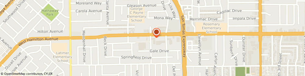 Route/map/directions to Cosmo Prof Campbell, 95008 Campbell, 884 West Hamilton Ave