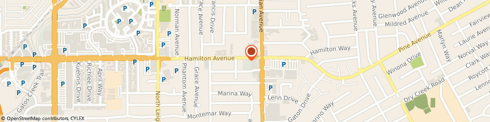 Route/map/directions to HOME INSTEAD, 95125 San Jose, 1660 Hamilton Ave