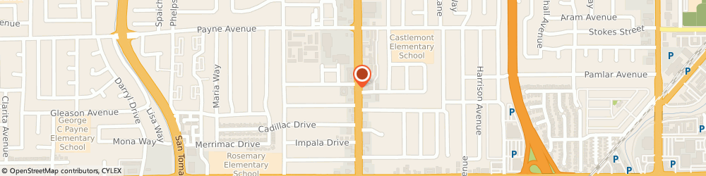 Route/map/directions to Happy Donuts, 95128 San Jose, 1345 SOUTH WINCHESTER BOULEVARD