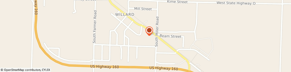 Route/map/directions to Pizza Hut, 65781 Willard, 304 E Jackson St