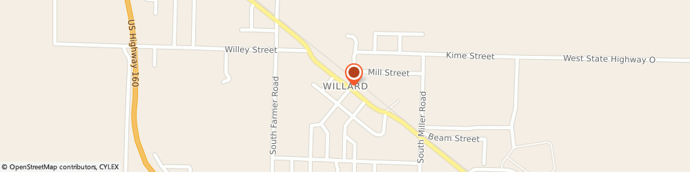 Route/map/directions to PIZZA HUT, 65781 Willard, E. CENTER HWY Z