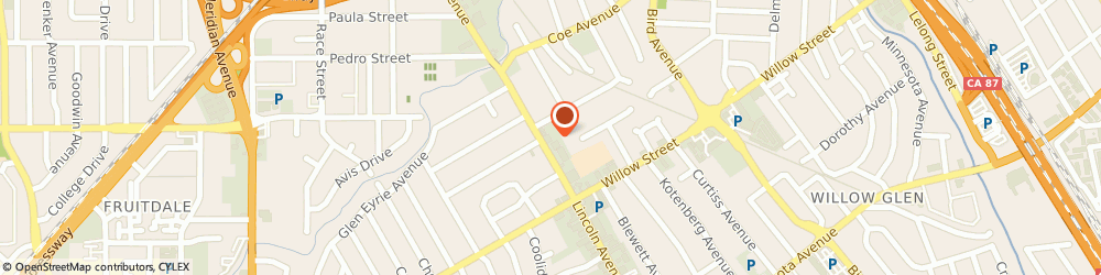 Route/map/directions to Truebalance Fitness Pilates Studio, 95125 San Jose, 1070 Lincoln Ave