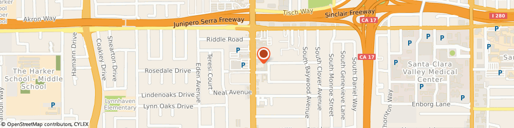 Route/map/directions to Master Cobbler, 95128 San Jose, 790 SOUTH WINCHESTER BOULEVARD