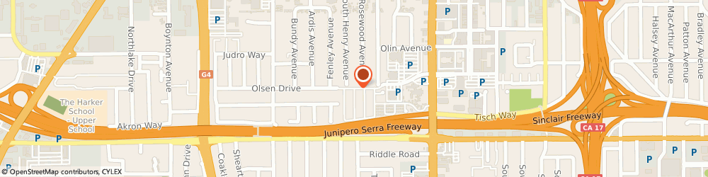 Route/map/directions to The Cake Man, 95117 San Jose, 605 Prune Way