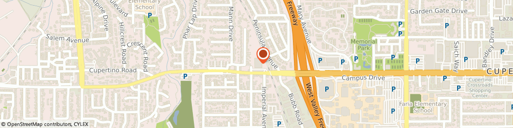 Route/map/directions to Post Office - Cupertino, 95014 Cupertino, 21701 STEVENS CREEK BOULEVARD